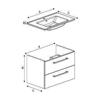 Шкафчик под раковину FARGO