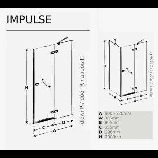 Душевая кабина Impulse схема