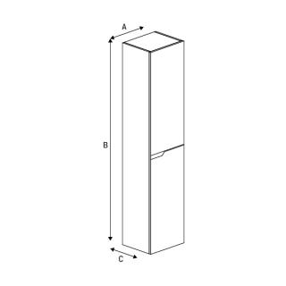 Подвесной шкафчик-пенал KODA