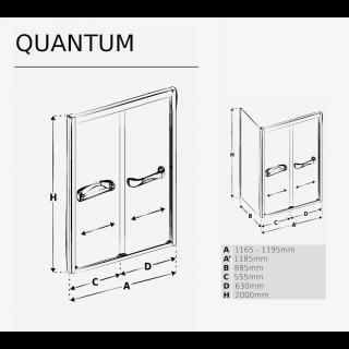 Душевая кабина Quantum схема