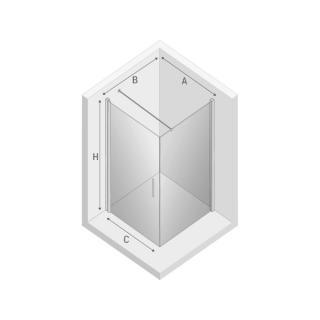 Душевая кабина NEGRA одинарная дверь