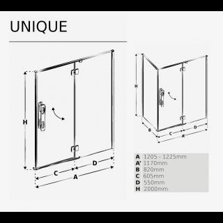 Душевая кабина UNIQUE схема