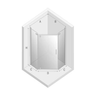 Душевая кабина NEW KOMFORT BLACK пятиугольная