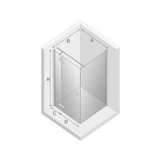 Душевая кабина REFLEXA дверь + стенка
